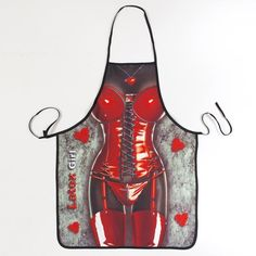 Fashion Leather woman Sleeveless apron funny apron gift for girlfriend 56*72cm free shipping