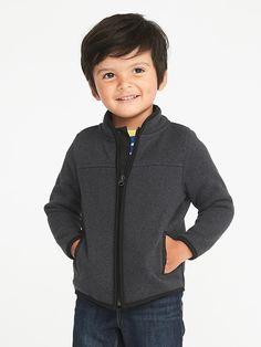 Sweater-Fleece Zip Jacket for Toddler Boys