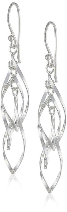 Sterling Silver Twisted Triple Drop Earrings -- Check this awesome jewelry pin  : Jewelry