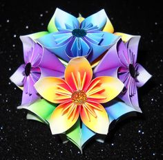 That is one cool origami flower ball!!!