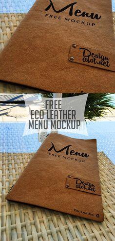 New Free Photoshop PSD Mockups Templates Hotel Menu, Restaurant Menu Design, Cocktail Menu, Cafe Menu, Free Photoshop, Menu Template, Leather Craft, Mockup, Menu Covers