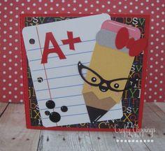 Teacher Gift Card holder School Greeting by CraftyClippingsbyPeg