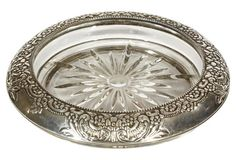 Floral Sterling Silver Wine Coaster