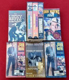 8 John Wayne Western VHS Movies Lot Cowboys Shrink-Wrapped Great Christmas Gift