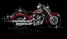Red motorcycle rhinestone hotfix iron on transfer