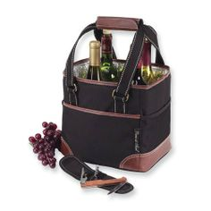 Black Insulated Waterproof Four Bottle Wine Carrier Perfect Gift Idea goldia. $47.13