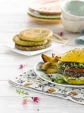 Hamburguesas con legumbres Salmon Burgers, Breakfast, Ethnic Recipes, Food, Legumes, Cooking Recipes, Hamburgers, Ethnic Food, Saucepans