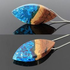 Just love the contrast between the blue resin and the beautiful wood! . . Available at: woodallgood.etsy.com