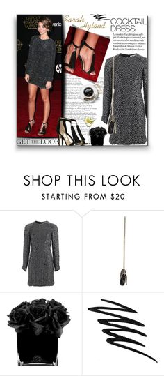 """After 5 W/Sarah Hyland"" by sherieme ❤ liked on Polyvore featuring KaufmanFranco, STELLA McCARTNEY, Hervé Gambs, Prescriptives, LSA International, GetTheLook, cocktaildress, polyvorecontest, sarahhyland and crystalcocktaildress"