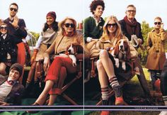Great American prep styling and how I like to think of America. Meet the Hilfigers campaign 2010.