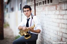 tucson senior portrait salpointe high school jazz band saxaphone
