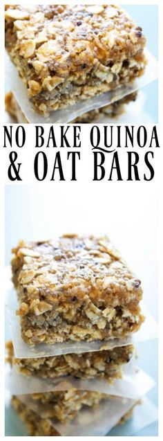 NO BAKE QUINOA & OAT BARS - AD @minutericeUS