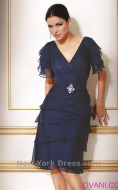 The Mother of Groom Dresses Navy Fall Casual