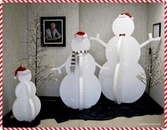 EPS foam brought our snowman family to life this year! #winter #display #Christmas © Insulation Corporation of America
