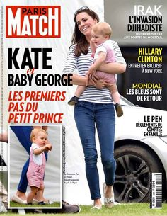 Kate and little George on the cover of Paris Match