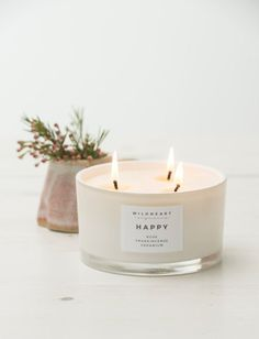 Aromatherapy Candle Rose & Frankincense Soy by WildheartOrganics #christmascandlesjars