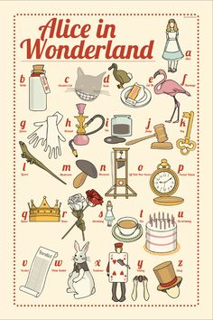 Alice in Wonderland: the illustrated ABC 6x4 inches small print. via Etsy.