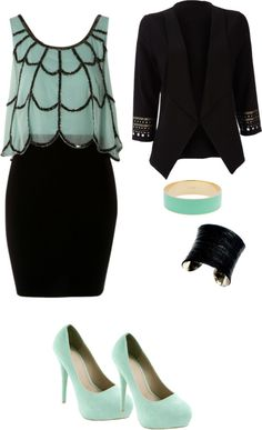 A fashion look from December 2012 featuring Lipsy dresses, Wallis blazers and UNEARTHED bracelets. Browse and shop related looks. Dress Outfits, Fashion Outfits, Womens Fashion, Fashion Trends, Looks Style, Style Me, Classy Outfits, Cute Outfits, Work Outfits