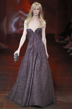 Armani Prive Fall 2010 Strapless Bustier Gown Profile Photo