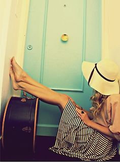 Stripes and Floppy Hat