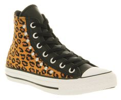 Leopard Converse, Converse in black and Leopard with studs