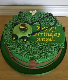 Cute Fondant Lawnmower By Two Cakes Gumpaste Fondant