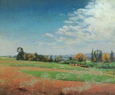 Valerius De Saedeleer (Belgian, 1867-1941), Les Fanes [The Burning of the Leafage], c.1910-14. Canvas, 58.5 x 70.5 cm.