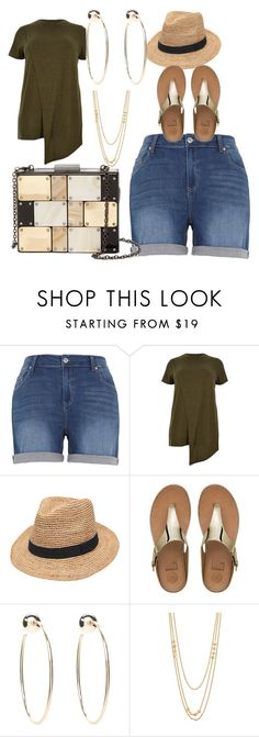 """""""Weekend chic!"""" by meganwest-2 ❤ liked on Polyvore featuring Melissa McCarthy Seven7, River Island, Gottex, FitFlop, Bebe, Gorjana and Sondra Roberts"""