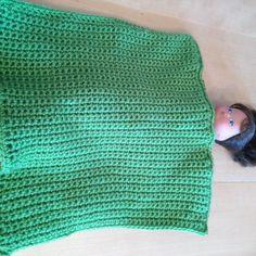 Foto: Puppendecke, gehäkelt, Rückseite / © Der grüne Mami Blog