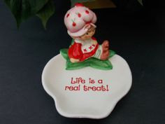 Vintage Strawberry Shortcake Designers Collection Candy Trinket Dish 1982 WWA #WWAInc