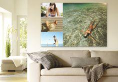 Kolaż ze zdjęć z wakacji w salonie? Dlaczego nie :) Źródło: http://www.odbitki.fotojoker.pl/fotoplakaty-i-fotoobrazy.html