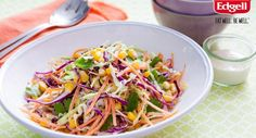 Chop it, toss it, dress it. A fresh and delicious salad doesn't come much easier than this.   Try Tablespoon's Red and Green Cabbage Slaw.  #summersalad #bbq #picnic #foodie