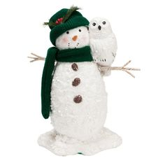 Midwest of Cannon Sparkling Snowman and Owl Figurine #VonMaur