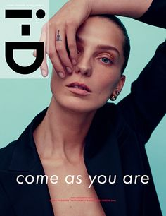 i-D magazine released its Spring 2014 cover earlier today via its website. The cover features Daria Werbowy photographed by Karim Sadli. Daria wears a coat by Calvin Klein which was styled by Alastair Mckimm. Daria Werbowy, Magazine Mode, Magazine Editorial, Editorial Fashion, Monthly Magazine, Id Cover, Cover Model, Drum Cover, Fashion Magazine Cover