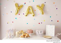 See my Gender reveal Confetti party - 5 girl party themes