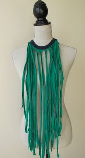DIY Fringe Necklace out of an old t-shirt. i wonder how u pull that off in a outfit?