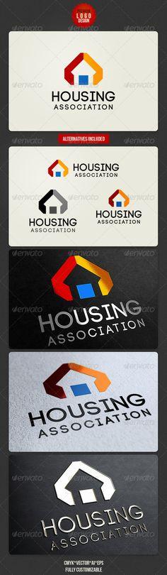 Housing Association Logo Design Template Vector #logotype Download it here:  http://graphicriver.net/item/housing-association-logo-design/2762364?s_rank=408?ref=nesto