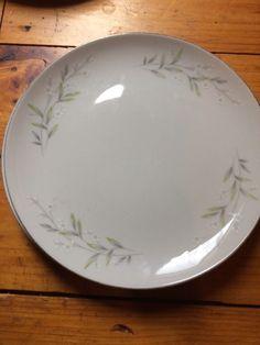 3 St. Regis Fine China 101 Dinner Plates Japan Platinum Trim White flowers  #StRegis #DinnerPlate