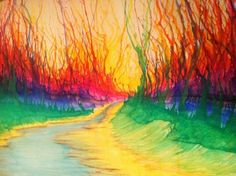 painting with crayons