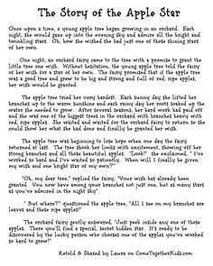Tel the kids The Story of the Apple Star and then cut into an apple and show them!