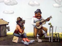 Pasitos de Colores: NUESTRA TRADICIÓN CRIOLLA... Y EL GAUCHO Gourd Art, Kandinsky, Paladin, Cowboys, Places To Travel, Decoupage, Folk, Cartoon, Baseball Cards
