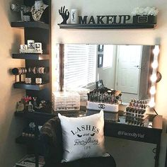 Elegant Makeup Room Checklist & Idea Guide for the best ideas in Beauty Room decor for your makeup vanity and makeup collection. Room, My Room, Beauty Room, Glam Room, Home Decor, Room Inspiration, Bedroom Decor, Vanity Room, Dream Rooms