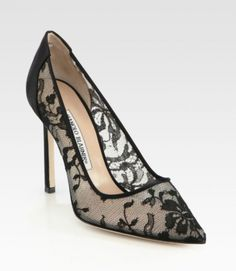 Manolo Blahnik '13 Spring BB Lace & Satin