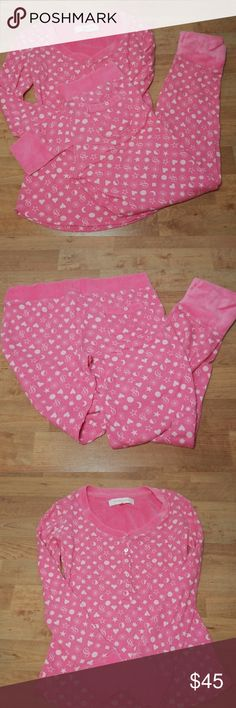 Pink VS matching PJ set NWOT pj set, the cuffs are lined with a velvet soft fabric, top and bottom size small PINK Victoria's Secret Intimates & Sleepwear Pajamas