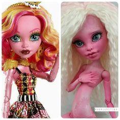 Monster high custom gooliope jellington gellington doll ooak repaint by skeriosities