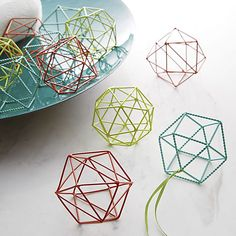 open wire orange ornament  | CB2