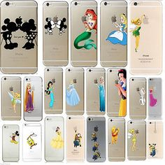 Kids Cute Cartoon Disney Novelty Crystal Hard Cover Case For iPhone Series | eBay