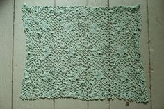 This is a beautiful lace crochet afghan. Shamrock Fields Throw Full