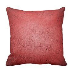 Concrete Red Throw Pillow