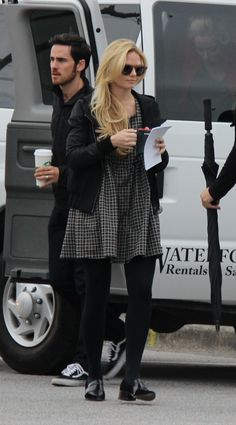 Jennifer Morrison and Colin O'Donoghue - Behind the scenes - 4 *7 - 24 September 2014